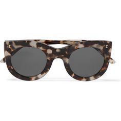 Illesteva Boca cat-eye acetate sunglasses ($250) ❤ liked on Polyvore featuring accessories, eyewear, sunglasses, tortoiseshell, cat-eye glasses, oversized sunglasses, grey sunglasses, oversized cateye sunglasses and illesteva sunglasses