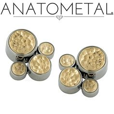 Anatometal threaded Gem Clusters, hand-set and guaranteed for life.