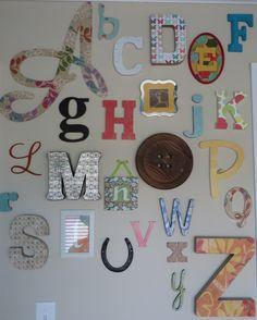 Project Nursery - Turquoise, Teal Animal Nursery Alphabet Wall