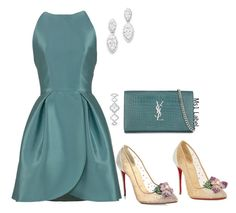 """""""Blue"""" by ms1-ltu on Polyvore featuring Christian Louboutin, Rami Al Ali, Yves Saint Laurent and Bloomingdale's"""