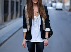 Love everything, but the fur vest.