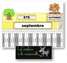 LaCatalane à la maternelle...: La poutre du temps - Montessori (2019-2020) Petite Section, Kindergarten, School Life, Cata, Lund, Classroom, Education, Blog, Fisher