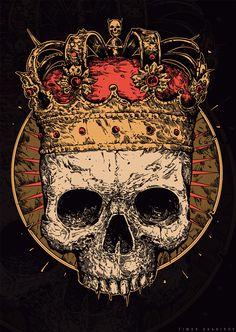 skull & crown art