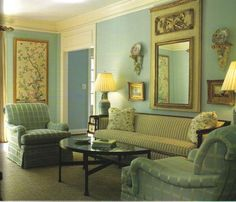 The Peak of Chic®: Georgian Style and Design such a soothing blue.