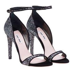 www.miumiu.com | Miu Miu Ankle-Strap Glitter Sandals - Celebrities who wear, use, or ...