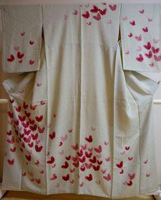 Kimono Dress Japan Japanese Geisha costume robe Vintage Houmongi 1610V16S21