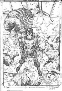Punisher comic art