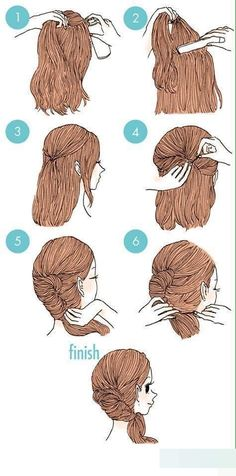 Siêu đơn giản dành cho bạn nào bận rộn, chỉ với lược và kẹp tăm, kiểu tóc này chỉ mất của bạn 3 phút thôi. Ngoài ra bạn có thể thoái mái đội mũ bảo hiểm mà không sợ bị xù lên nữa nhé.