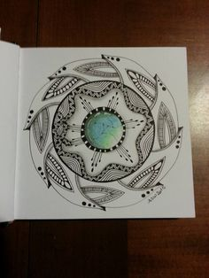 Kai-Zen Doodles: 2016 Tangle It! Mandala Challenge & Moon Phases