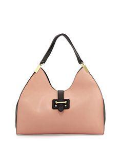 Meringue Colorblock Shoulder Bag, Blush/Black by Neiman Marcus at Neiman Marcus Last Call.