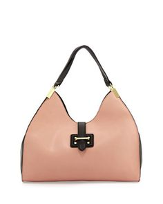 Meringue Colorblock Shoulder Bag, Blush/Black by Neiman Marcus at Neiman Marcus Last Call.