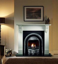 The Bolton arch fireplace very versatile as it can be used as a fascia for existing clay or fibre backs as the hood plate allows it match thse dimensions. Very similar to the Lytton its the hood that sets them apart. Wooden Fireplace, Victorian Fireplace, Limestone Fireplace, Fireplace Design, Fireplace Mantels, Fireplace Ideas, Fireplaces Uk, Marble Fireplaces, Corner Fireplaces