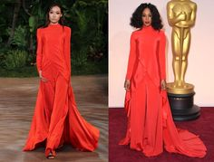 14 Celebs Who've Taken Dresses Straight Off the Runway | Solange in Christian Siriano on the Oscar red carpet.
