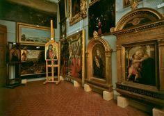 AKG-imágenes -Florence (Tuscany, Italy), Uffizi Gallery / Palazzo degli Uffizi (building of the palace begun by Georgio Vasari in 1560 for Cosimo I de'Medici at the offices for the Florentine magistrates). Galleria degli Uffizi (art collection of the Medici family).