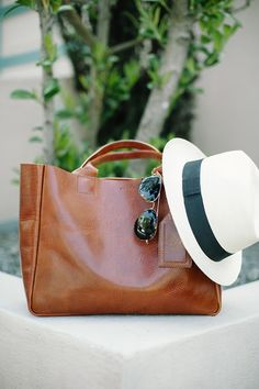 brown leather #tote