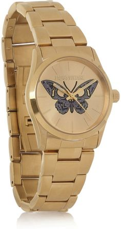 Zadig and Voltaire- Coated Stainless Steel Butterfly Motif Watch - Lyst