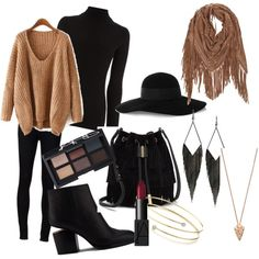 Untitled #7 by astr-ar on Polyvore featuring polyvore, fashion, style, Warehouse, Ström, Alexander Wang, Vince Camuto, Elsa Peretti, Pamela Love, GUESS, Eugenia Kim and NARS Cosmetics