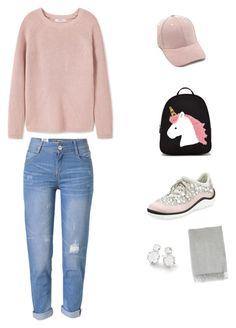 """""""should I give up on my report"""" by minee1997 ❤ liked on Polyvore featuring MANGO, Forever 21, WithChic, Miu Miu, Ippolita and Acne Studios"""