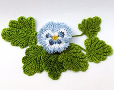 This listing is for a PDF Crochet PATTERN only, not a finished flower. English language and US crochet terms only. You will not find a more realistic Pansy pattern anywhere. When you use natural looking colors it looks real at first glance! This comprehensive photo tutorial pattern (13 pages, 99 photos, 9.78MB) includes both versions, smooth and ruffled. Youll also receive a free bonus chart for Pansy Leaves. You will need a PDF reader such as Adobe Reader or PDF-XChange to view the files…