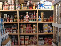 Stocking up: Some preppers are also stockpiling food and water to prepare for the possibility that the modern infrastructure of New York City could collapse
