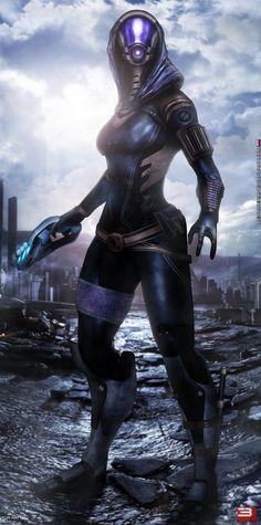 Mass Effect 3 Tali' Zorah (2014) by RedLineR91 on DeviantArt