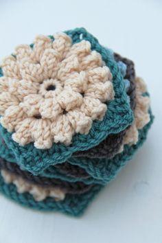creJJtion: #Crochet Popcorn Flower Square