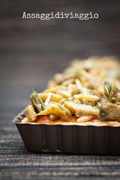 Assaggidiviaggio: Un antipasto pasquale: quiche di carciofi caramellati con pinoli