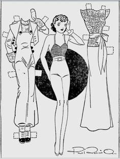 "Etta Kett paper doll  Berkeley Daily Gazette - Oct 9, 1935     ""Etta Kett,"" created by Paul Robinson 1898-1974)."