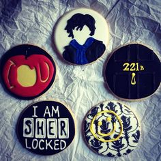 BBC Sherlock themed cookies by Jesicakes (me)