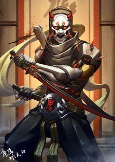 Overwatch Oni Genji, Overwatch Fan Art, Overwatch Drawings, Arte Ninja, Ninja Art, Genji Shimada, Overwatch Wallpapers, Samurai Artwork, Shinigami