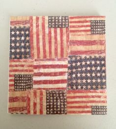 A personal favorite from my Etsy shop https://www.etsy.com/listing/273277838/flag-decorative-tilecoaster