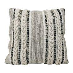 Diy Pillows, Wool Pillows, Throw Pillows, Cushions, Pillow Ideas, Pillow Room, Living Room Pillows, Living Rooms, Sofa Pillow Covers
