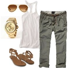 Very Cute Summer Outfit. This Would Look Good Paired With Any Shoes. - Street Fashion, Casual Style, Latest Fashion Trends - Street Style and Casual Fashion Trends Estilo Fashion, Fashion Mode, Look Fashion, Ideias Fashion, Womens Fashion, Fashion Trends, Ladies Fashion, Classy Fashion, Korean Fashion