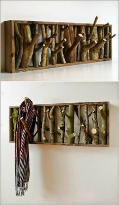 basteln-fuer-erwachsene-hoken-aus-holz-und-aesten-selber-machen Best Picture For DIY to do when bored For Your Taste You are looking for something, and it is going to tell you exactly what you are loo Furniture Makeover, Diy Furniture, Diy Tumblr, Wood Logs, Raw Wood, Ideas Hogar, Wood Home Decor, Diy Presents, Wood Pieces