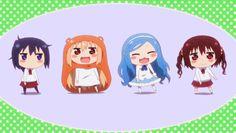 Himouto! Umaru-chan, Doma Umaru, Ebina Nana, Motoba Kirie y Tachibana Sylphynford