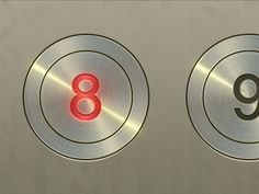 Elevator Buttons with Illuminated numbers.