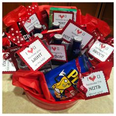 the basket i made for my husband for valentines day! :) | my life, Ideas