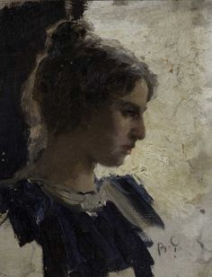 Portrait of a Young Lady - by Valentin Serov