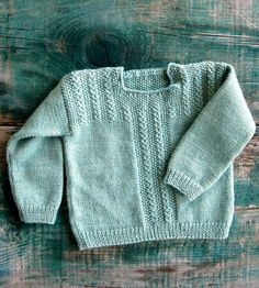 Free Knitting Pattern - Baby Sweaters: Fiddlehead Pullover