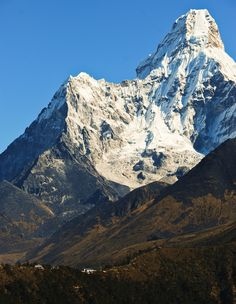 Tengboche Monastery, Nepal, dwarfed by the beautiful Ama Dablam.