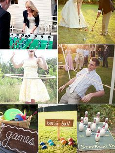 Ideas for summer wedding games via weddingwonderland.it | Visit wedding-venues.co.uk
