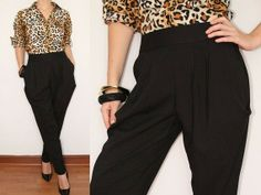 Women Harem Pants Black Harem pants Career Pants by KSclothing, $35.00