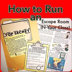 Teach Your Child to Read - ESCAPE ROOMS/BREAKOUTS What to look for to create an awesome escape experience for your class! - Give Your Child a Head Start, and.Pave the Way for a Bright, Successful Future. Middle School Ela, Middle School Classroom, Beginning Of School, High School, Science Classroom, Fun Classroom Activities, Ela Classroom, Steam Activities, Spanish Activities