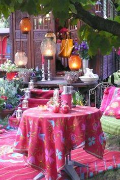 Bohemian courtyard