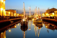 Cesenatico canal port