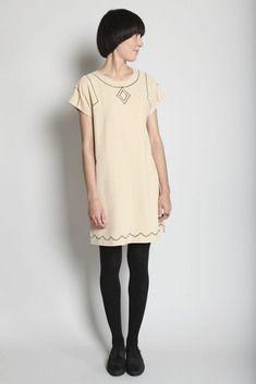 "A.P.C. Madras ""Emboidered Silk Dress"" $ 98"