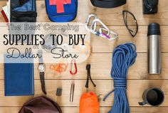 The Best Camping Supplies To Buy At The Dollar Store - Saving Money Camping
