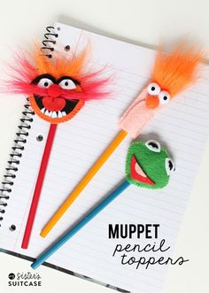 DIY Pencil Toppers | 14 DIY Back to School Supplies For All Ages