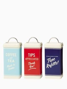 Order's Up canisters | Kate Spade New York