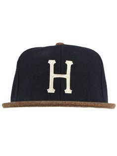 HUF Clothing Classic H Starter Snapback Hat - Navy/Brown $32.00 #huf #hufsf